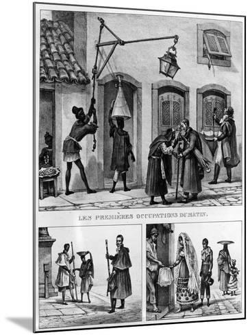 Daily Life in Brazil, from 'Travels in Brazil', Lithographed by Thierry Freres, 1839 (Litho)-Jean Baptiste Debret-Mounted Giclee Print