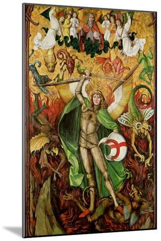 The Archangel Saint Michael in Combat with Lucifer, C.1490-1505 (Oil on Wood)-Hans the Elder Leu-Mounted Giclee Print
