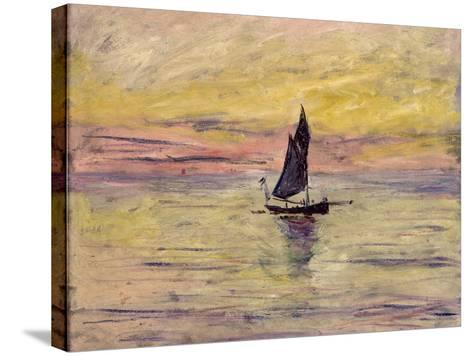 The Sailing Boat, Evening Effect, 1885-Claude Monet-Stretched Canvas Print
