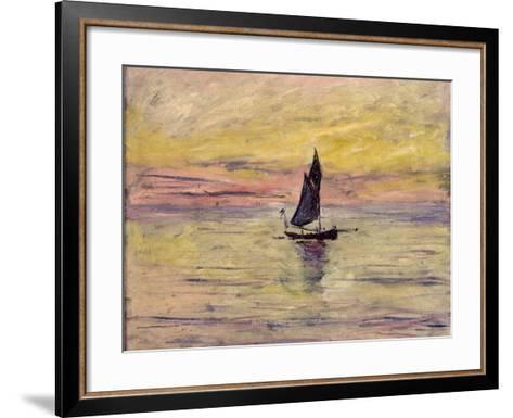 The Sailing Boat, Evening Effect, 1885-Claude Monet-Framed Art Print