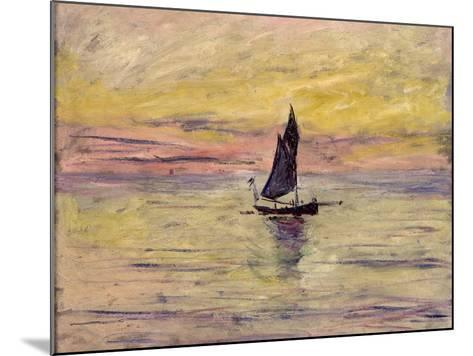The Sailing Boat, Evening Effect, 1885-Claude Monet-Mounted Giclee Print