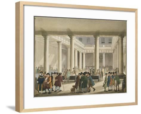 The Corn Exchange from Ackermann's 'Microcosm of London', 1808 (Aquatint)-T Rowlandson-Framed Art Print