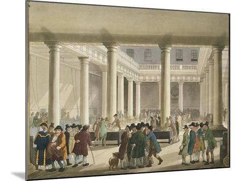 The Corn Exchange from Ackermann's 'Microcosm of London', 1808 (Aquatint)-T Rowlandson-Mounted Giclee Print