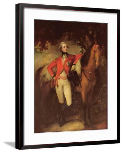 George Iv, as Prince of Wales, 1782-Thomas Gainsborough-Framed Art Print