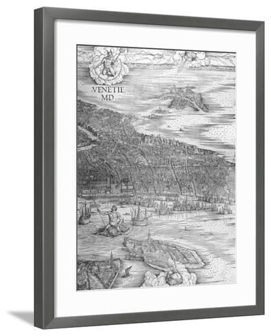 Grande Pianta Prospettica - Venice, C.1500 (Engraving) (Middle Section)-Jacopo De' Barbari-Framed Art Print