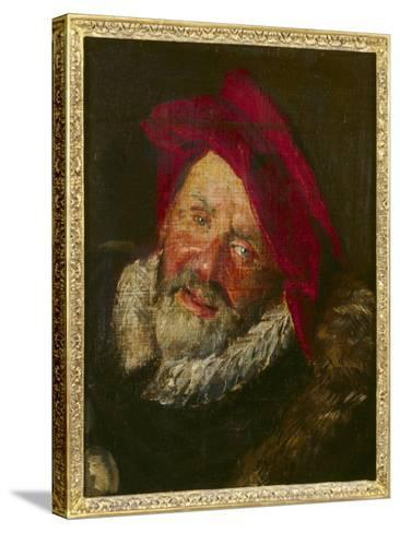 Portrait of a Buffoon-Frans Hals-Stretched Canvas Print