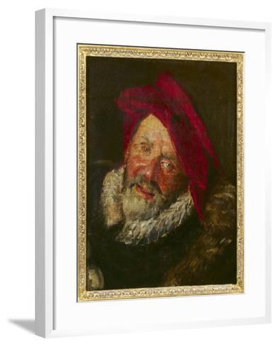 Portrait of a Buffoon-Frans Hals-Framed Art Print