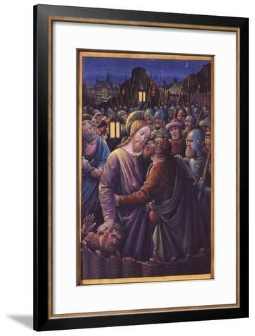 The Kiss of Judas, End of 15th Century (Vellum)-Jean Bourdichon-Framed Art Print