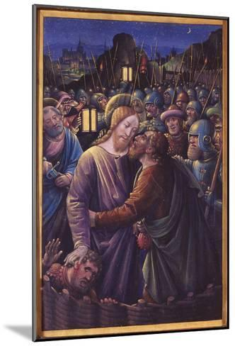 The Kiss of Judas, End of 15th Century (Vellum)-Jean Bourdichon-Mounted Giclee Print