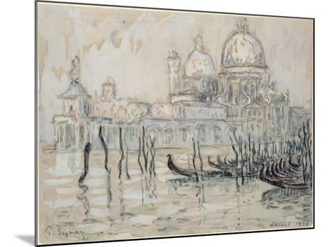 Venice Or, the Gondolas, 1908 (Black Chalk and W/C on Paper)-Paul Signac-Mounted Giclee Print