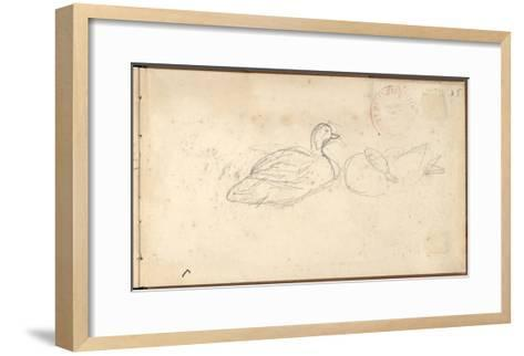 Two Ducks (Pencil on Paper)-Claude Monet-Framed Art Print
