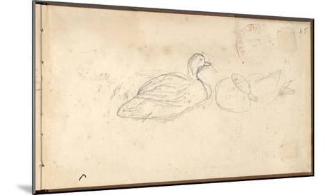Two Ducks (Pencil on Paper)-Claude Monet-Mounted Giclee Print