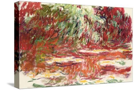 Waterlily Pond, 1918-19-Claude Monet-Stretched Canvas Print
