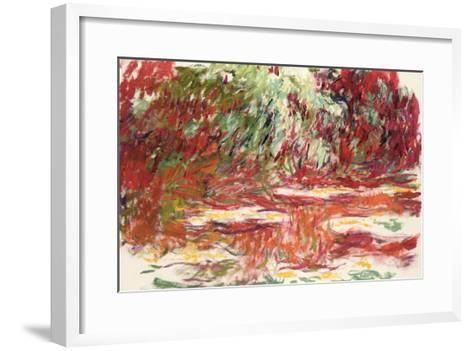 Waterlily Pond, 1918-19-Claude Monet-Framed Art Print