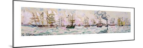 The Departure of the Fishing Trawlers to Newfoundland, 1928 (W/C on Paper)-Paul Signac-Mounted Giclee Print