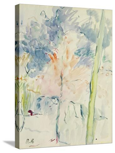 Red Tree in a Wood, 1893 (W/C on Paper)-Berthe Morisot-Stretched Canvas Print
