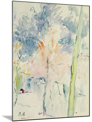 Red Tree in a Wood, 1893 (W/C on Paper)-Berthe Morisot-Mounted Giclee Print