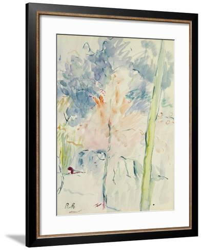 Red Tree in a Wood, 1893 (W/C on Paper)-Berthe Morisot-Framed Art Print