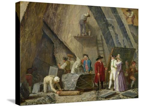 Extracting Sainte-Anne Marble from a Quarry-Leonard Defrance-Stretched Canvas Print