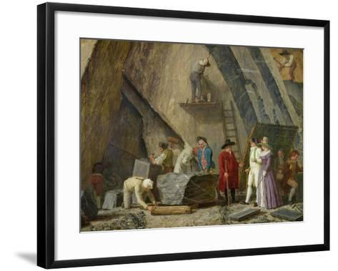 Extracting Sainte-Anne Marble from a Quarry-Leonard Defrance-Framed Art Print