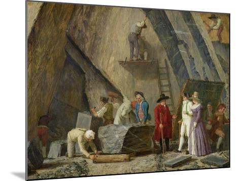 Extracting Sainte-Anne Marble from a Quarry-Leonard Defrance-Mounted Giclee Print