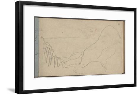 Small Valley at Varengeville (Pencil on Paper)-Claude Monet-Framed Art Print