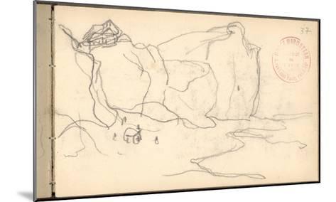 Cliffs Near Pourville-Varengeville (Pencil on Paper)-Claude Monet-Mounted Giclee Print