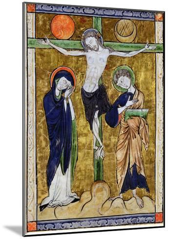 The Crucifixion, from a Psalter, C.1215 (Vellum)-French-Mounted Giclee Print