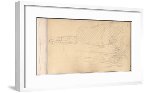 The Cliffs of Varengeville (Pencil on Paper)-Claude Monet-Framed Art Print