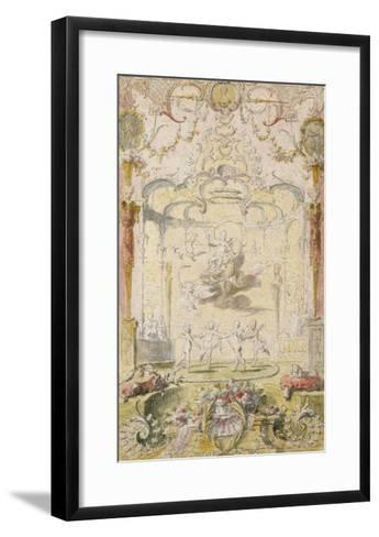 The Triumph of Love (Ink and W/C on Paper)-Claude Gillot-Framed Art Print
