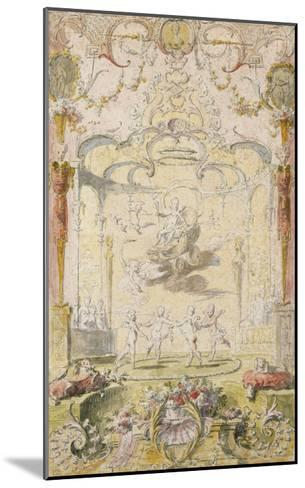 The Triumph of Love (Ink and W/C on Paper)-Claude Gillot-Mounted Giclee Print