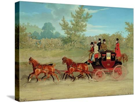 The Exeter Royal Mail on a Country Road-James Pollard-Stretched Canvas Print