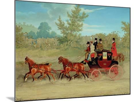 The Exeter Royal Mail on a Country Road-James Pollard-Mounted Giclee Print