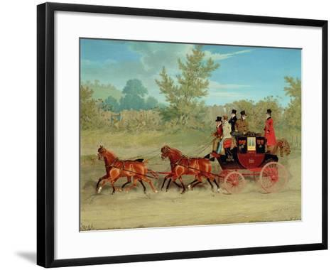 The Exeter Royal Mail on a Country Road-James Pollard-Framed Art Print