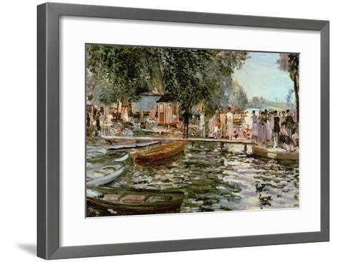 La Grenouillere, 1869-Pierre-Auguste Renoir-Framed Art Print