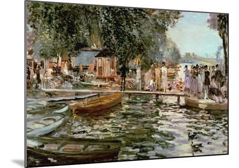La Grenouillere, 1869-Pierre-Auguste Renoir-Mounted Giclee Print