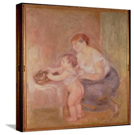 Mother and Child-Pierre-Auguste Renoir-Stretched Canvas Print