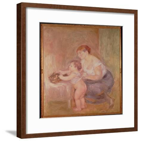 Mother and Child-Pierre-Auguste Renoir-Framed Art Print