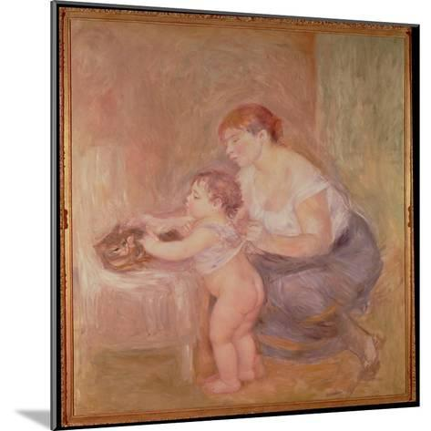 Mother and Child-Pierre-Auguste Renoir-Mounted Giclee Print