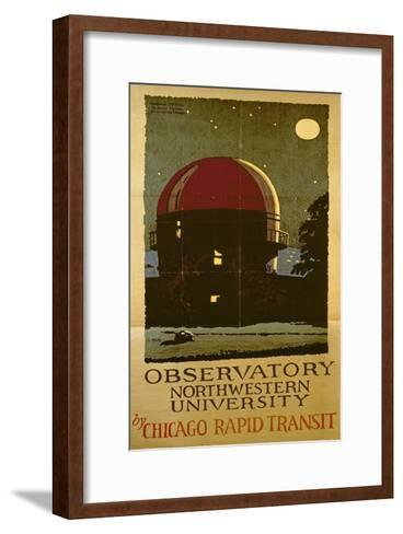 Observatory Northwestern University, Poster for the Chicago Rapid Transit Company, USA, 1925-Wallace Swanson-Framed Art Print