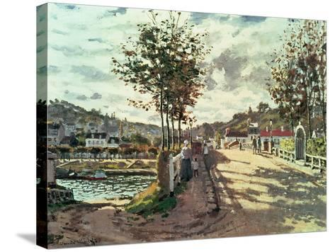 The Seine at Bougival, 1869-Claude Monet-Stretched Canvas Print