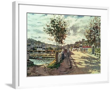 The Seine at Bougival, 1869-Claude Monet-Framed Art Print
