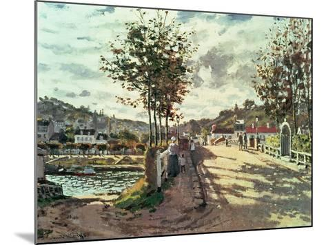 The Seine at Bougival, 1869-Claude Monet-Mounted Giclee Print