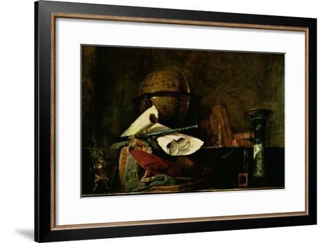 Allegory of Science-Jean-Baptiste Simeon Chardin-Framed Art Print