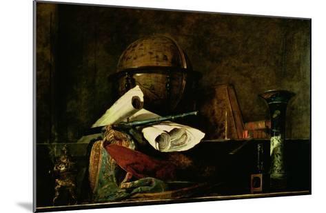 Allegory of Science-Jean-Baptiste Simeon Chardin-Mounted Giclee Print
