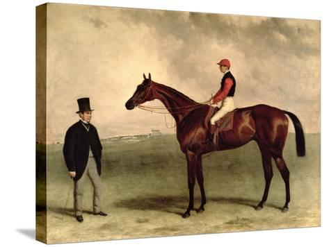 Gladiateur with Harry Grimshaw Up and His Owner, Count Frederic De Lagrange, 1865-Harry Hall-Stretched Canvas Print