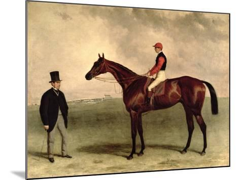 Gladiateur with Harry Grimshaw Up and His Owner, Count Frederic De Lagrange, 1865-Harry Hall-Mounted Giclee Print
