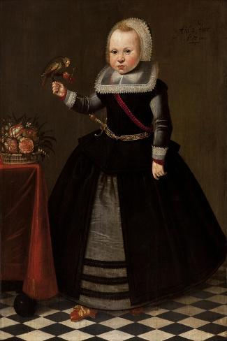 Portrait of a Girl-French-Stretched Canvas Print