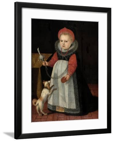 Portrait of a Young Girl (Oil on Pannel)-French-Framed Art Print