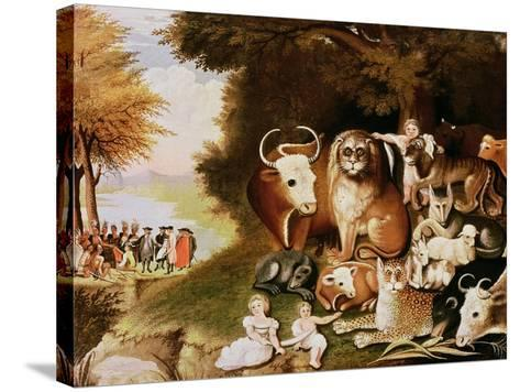 The Peaceable Kingdom, 1832-34 (See also 84503)-Edward Hicks-Stretched Canvas Print